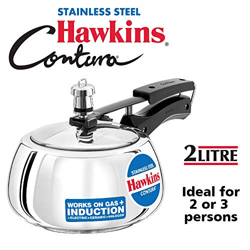 Hawkins SSC20 stainless steel pressure cooker, Silver