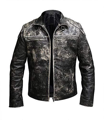 Price Right Cafe Racer - Chaqueta de cuero para hombre, chaqueta de cuero envejecido, chaqueta de motocicleta vintage, chaqueta para hombre, chaqueta de motocicleta retro