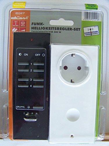 Funk Helligkeitsregler Set Zwischenstecker 300W Düwi 05241