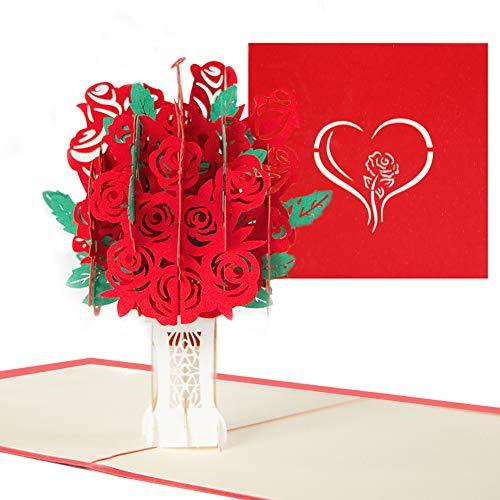 Pop up Karte Geburtstagskarte, 3D Pop-Up-Grußkarten Geburtstag, Glückwunschkarte für frauen(Grußkarten Geburtstag, Valentinstag, Liebeskarte, Hochzeitstag Grußkarten, Muttertagskarte)