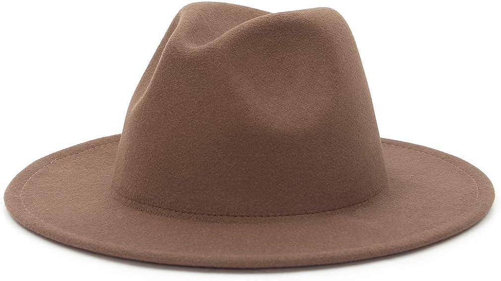 EOZY Fedora Hats for Women Men, Classic Wide Brim Fedora Hat Panama Hat for Women