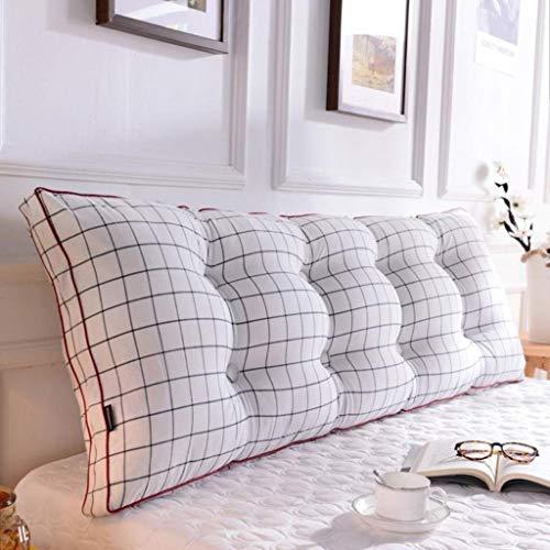 LFOZ Cojín de lectura 100% algodón, cojín extraíble suave rollo cojín para Tatami – Cojín largo mesita de noche (color: F, tamaño: 120 x 20 x 50 cm)