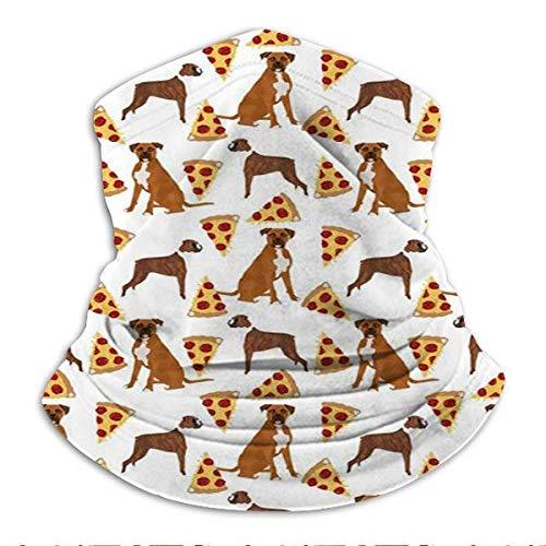 Boxers Pizza Pizza Food Boxer Dog Dog Cute Food F04 - Polaina para el cuello, máscara de la cara, pasamontañas, unisex de microfibra, calentador de cuello