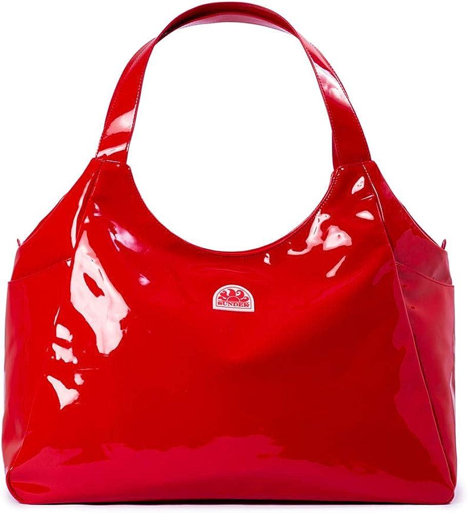 Sundek - maxi-shopper, borsa per il  mare da donna,  in vinile AW304ABP1200690-OS