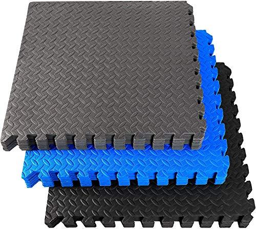 Fitem - Baldosas de espuma EVA Premium & ambiental, alfombra puzle, protección de suelo, deporte, piscina, Crossfit, musculación - Gym, jardín, interior - exterior - 44 x 44 x 1 cm