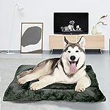 BCASE Cama Perro, Cama de Perros Grandes, Cama para Perros, Cama para Mascotas Desmontable y Extraíble Lavable 90 x 70 x 13 cm(L, Verde Oscuro)