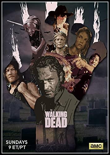 yitiantulong American Horror TV The Walking Dead Season Cartel Clásico Bar Café Sala De Estar Comedor Pinturas Decorativas De Pared 50X70Cm Sin Marco(A2495)
