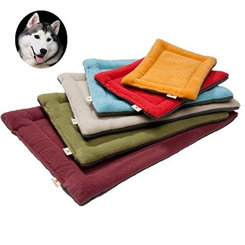 YouthUnion Colchoneta Cama para Mascota, Almohada Invierno Lavable Higiénica Suave para Perros Gatos Caliente Cálida (XL, Beige)