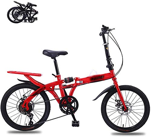 Adulto plegable bicicleta de montaña mini bicicleta plegable 16 pulgadas freno de disco suspensión completa aerodinámica
