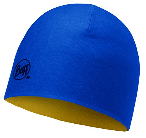 Buff Bonnet Merino Wool Reversible Junior Solid Bleu-Jaune 2016