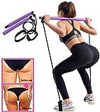Cokeymove Pilates/Long Resistance Band Bar,Women's Fitness <span class='highlight'>Equipment</span> Waist Exercise Chest expander Arm strength Yoga Bar Pilates Stick for Bodybuilding <span class='highlight'>Workout</span>