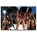 Xindong Hot Sexy Model Girl with Gun Art Silk Fabric Poster Print Military Pictures for Home Wall Decor 60X90 cm No Frame