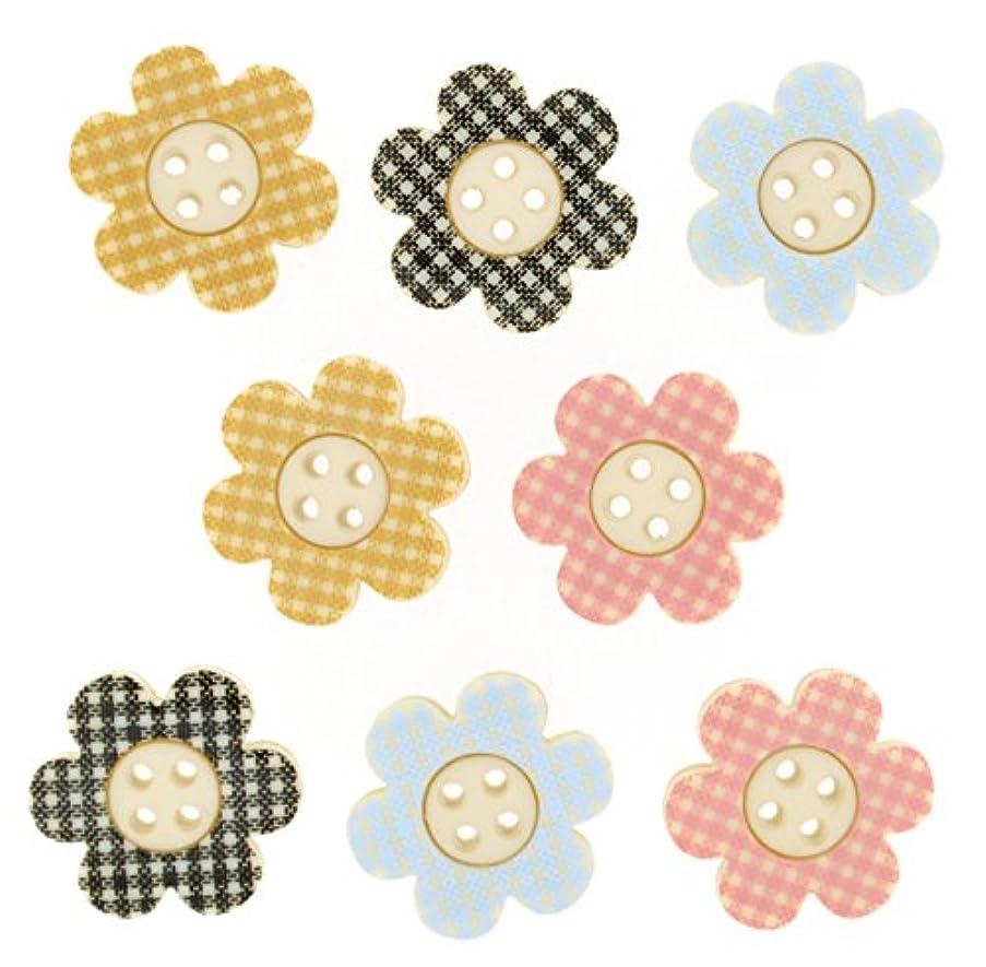Dress It Up 8309 Buttons, Plaid Petals