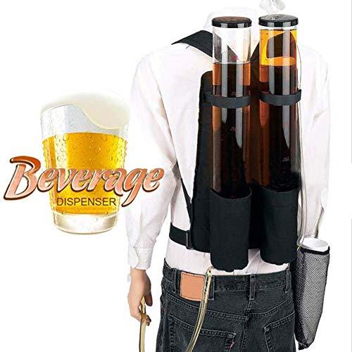 LYMHGHJ Doppelter Tank Doppelbier- und Getränkespender-Rucksack, tragbarer Getränkebier-Alkoholspender-Rucksack - Alkoholspender