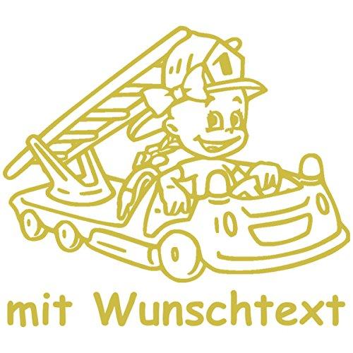 Babyaufkleber mit Name/Wunschtext - Motiv 790 (16 cm) - 20 Farben und 11 Schriftarten wählbar