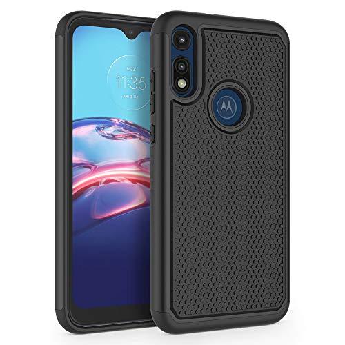 SYONER Shockproof Phone Case Cover for Motorola Moto E 2020 (6.2') [Black]