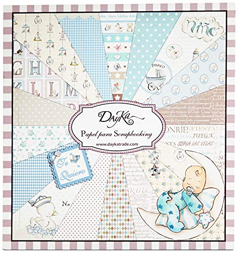 Dayka Trade Scrapbooking-Set für Kinder, 20 x 20 cm