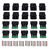 MUYI 10 Kit 4 Pin Way Waterproof Electrical Connector 2.5mm Series Terminals