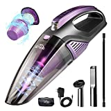 SIMBR Handheld Vacuum Cleaner Cordless,7000pa High Power Car Vacuum Cleaner(LED Light, Quick Rechargeable 2500mAh Battery) Wet&Dry Portable Vacuum Hand Held for Car and Home,Stainless HEPA Filter