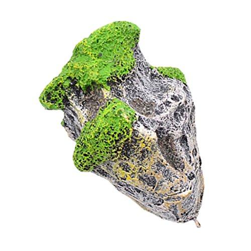 Baoblaze Schwimmender Stein Schwebender Stein künstliche Felsen für Aquarium Fisch Tank Deko - S