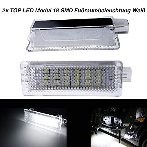 2 modules Top LED 18 SMD pour éclairage de plancher blanc (BM-030104)