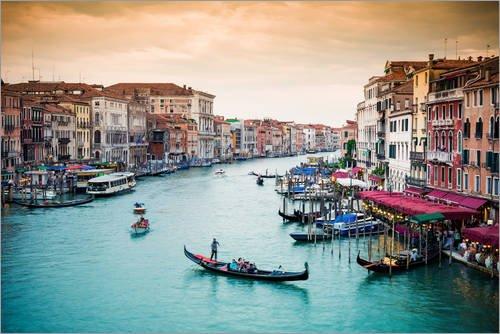 Posterlounge Acrylglasbild 90 x 60 cm: Venedig von euregiophoto - Wandbild, Acryl Glasbild, Druck auf Acryl Glas Bild