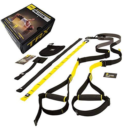 Übungs-Bänder Suspension Fitness Krafttraining Gürtel Yoga Pull-Gurt mit Tür Puller Übung Widerstand-Bänder Set für Dehnübungen (Color : Black, Size : One Size)
