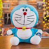 Doraemon muñeco de Peluche de Juguete, muñeco de Trapo Azul Gordo, Regalo de cumpleaños navideño, muñeco Doraemon, Almohada de Gato Jingle Femenino Cara Sonriente 23cm
