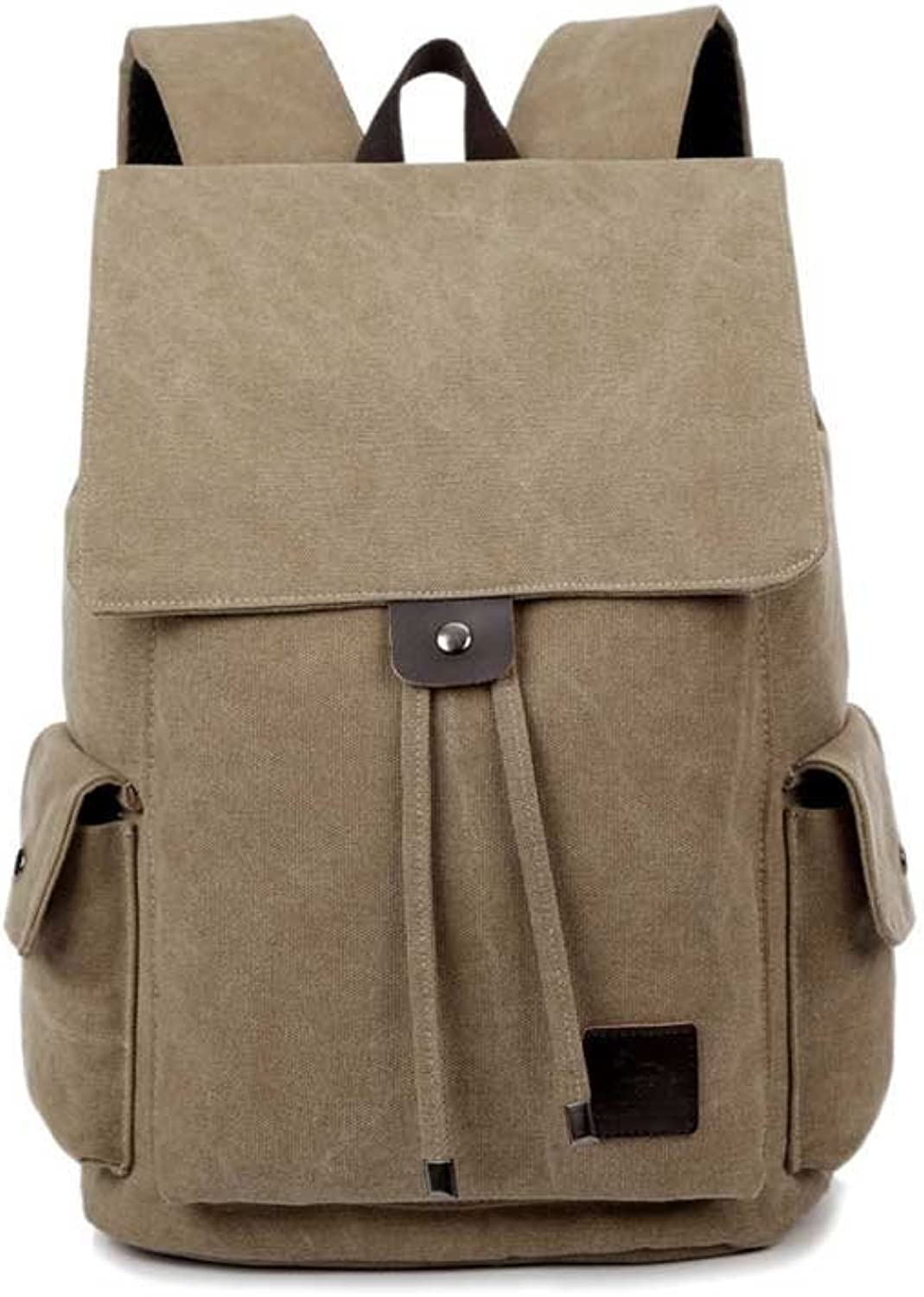 Backpack Leisure Drawstring Backpack Retro Canvas Backpack Handbags Outdoor Large Capacity Travel Bag