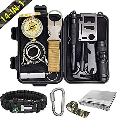 Pocket Survival Kits - Boy Scout Gifts First Aid Kit Camping Gear Emergency Tools Car Gadgets Multitool Hiking Hunting Accessories Fathers Day Graduation Birthday Presents for Dad Son Him Men Husband from XMQY
