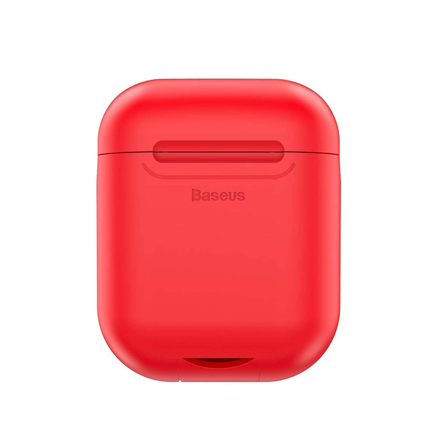 Airpods Wireless Charging Case,Wireless Charging Receiver for Airpod - Airpod Compatible Qi Charging Lightning Adapter Sleeve Silicone Case Cover with Any Qi Wireless Charger (Red)