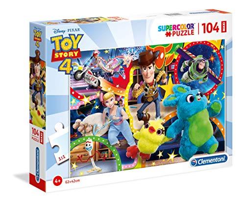 Clementoni- Puzzle 104 Piezas Maxi Toy Story 4, Multicolor (
