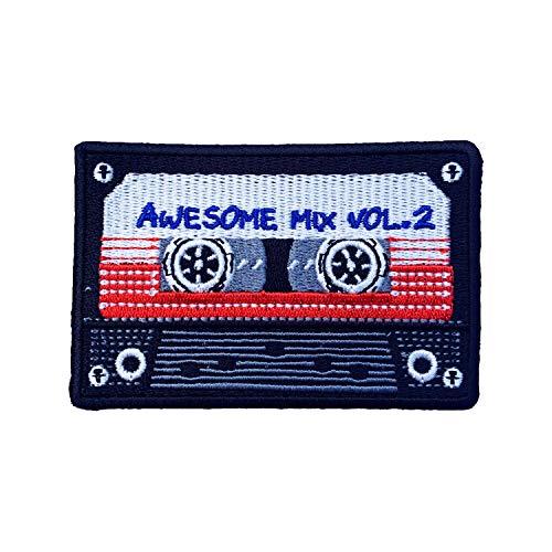 Aufbügler für Awesome Mix Tape Vol.2 Patch Kassette Retro 80er Jahre Galaxy Guardians Old School Jacke Badge