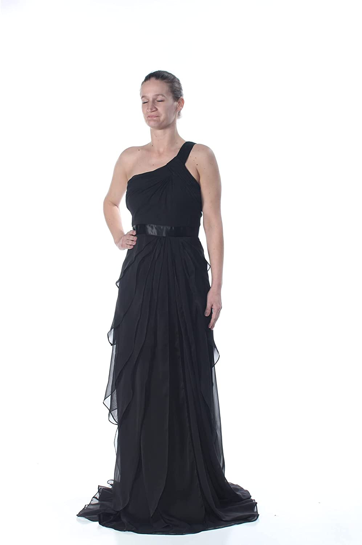 Adrianna Papell Women's Bead Crepe Long Dress