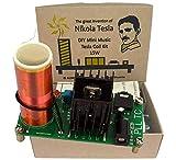 Aumed Mini Musik Tesla Coil Plasma Lautsprecher Wireless Transmission Kit Vintage Gold