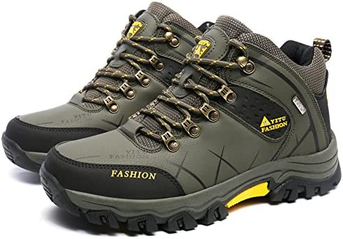 GOMNEAR Men's Hiking Boots High Top Trekking Shoes Non Slip Ankle Support  Breathable Walking Climbing Sneakers,Green-42: Buy Online at Best Price in  UAE - Amazon.ae
