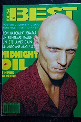 BEST 243 OCTOBRE 1988 COVER MIDNIGHT OIL IRON MAIDEN PAT BENATAR pas de poster
