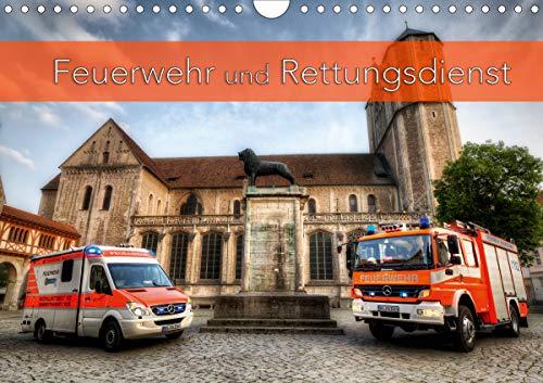 Feuerwehr und Rettungsdienst (Wandkalender 2021 DIN A4 quer)