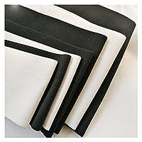 輪ゴム 5-25cmワイドホワイト/ブラックDIY縫製弾性テープかぎ針編みベルト弾性ゴムバンドコルセットベルト (Color : 20cm white 1meter)