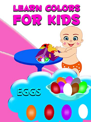 Learn colors for kids - Eggs