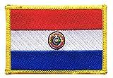 Flaggenfritze Flaggen Aufnäher Paraguay Fahne Patch + gratis Aufkleber