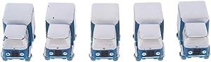 SM SunniMix 15 Pz Giocattolo Miniatura Statua Camion Fai da Te Ornamento Giardino Regalo Compleanno