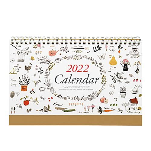 """2022 Desk Calendar Flip Monthly USA Calendar Planner - Natural 10.2"""" x 7.1"""" (Oct. 2021 to Dec. 2022)"""