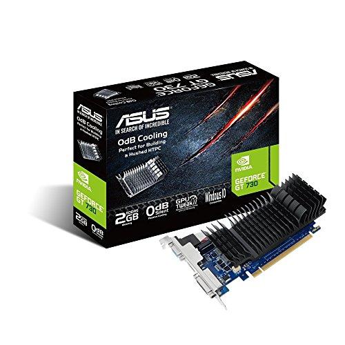 Asus GT730-2GD5-SL-BRK Nvidia GeForce Grafikkarte (2GB DDR5 Speicher, PCIe 3.0, HDMI, DVI-D)