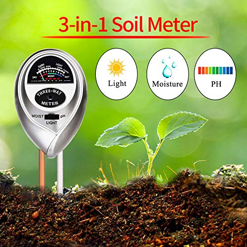 Review WINZOOM Soil Tester,Soil Moisture Meter,3-in-1 Soil Test Kit with Moisture,Light and PH Test ...