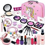 Kit de maquillaje para niños Toy Girl - Juego de maquillaje de juguete falso juego de maquillaje simulador de maquillaje falso set para niños pequeños..
