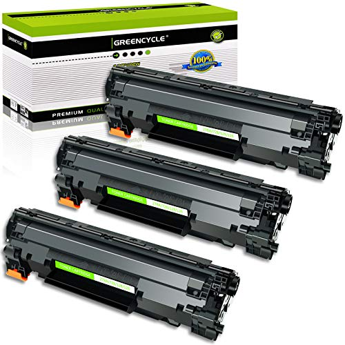 GREENCYCLE Toner Cartridge Replacement Compatible for Canon 126 CRG-126 CRG126 3483B001 use in ImageClass LBP6200d, and LBP6230dw Wireless Laser Printers (Black,3 Pack)