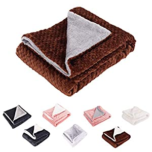 Pet Blanket for Small Medium Large Dogs, Warm Plush Pet Throw Blankets, Washable Pet Bed Blanket, Dog Cat Sleep Soft Cushion Pad, Cotton Wool/Arctic Velvet Dog Bed Blanket, Pet Dog Mat for Sofa Bed