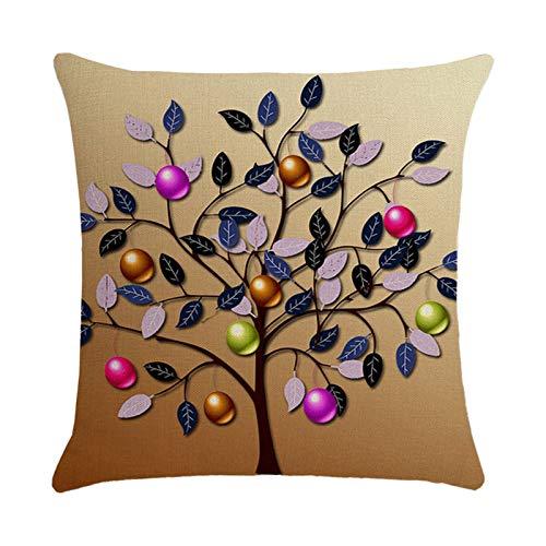 Watopia Funda de cojín de lino con estampado de Pascua, funda de cojín para sofá o cama, funda de cojín para decoración personalizada del hogar, regalo de fiesta, 45 cm x 45 cm