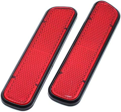 AUTUT Car Reflective Sticker Stick On Red Warning Safety Reflector Strips Pack of 2 product image